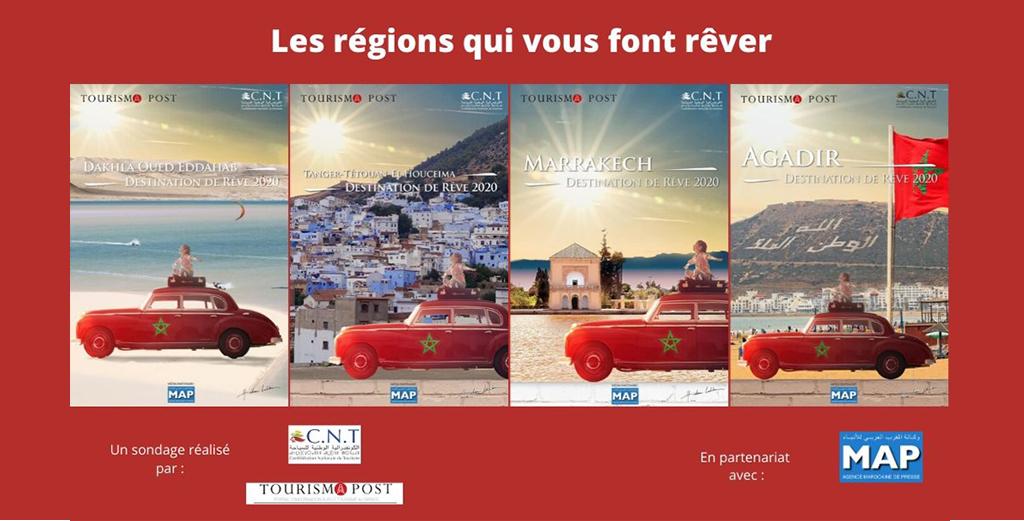 Voici les 4 Régions où les marocains veulent voyager