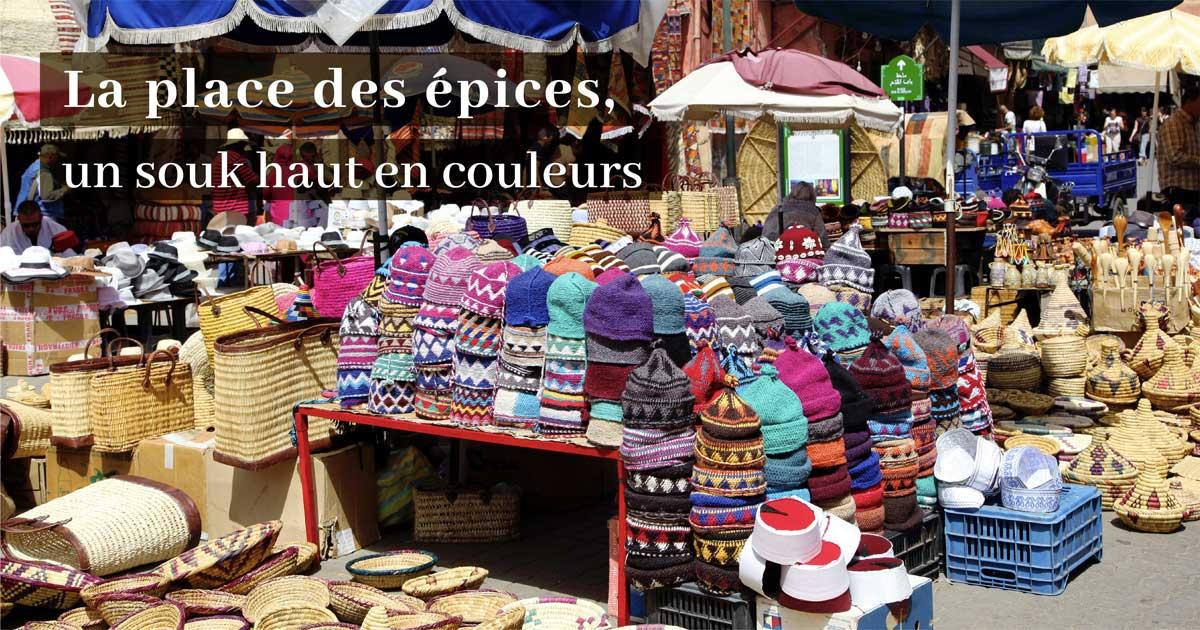 La place des épices, un souk haut en couleurs